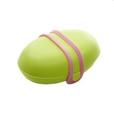 Travel Portable Seal Dish Buckle Bathroom Soap Box Soap Dishes Green (Intl)