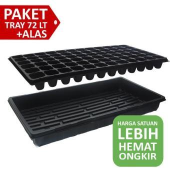 Tray Semai 72 Lubang + Alas Tray Rendam Nutrisi Jirifarm Hidroponik