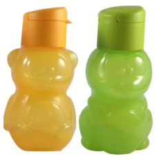 Tupperware Eco Bottle Kids 350 Ml Botol Kidz (Hijau - Orange)