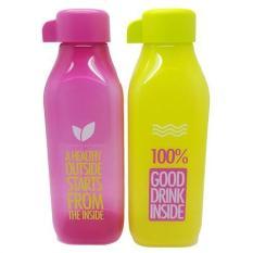 Tupperware Eco Bottle Square 500ml - Lime & Ungu
