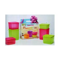 Tupperware Summer Fun Pink-Green