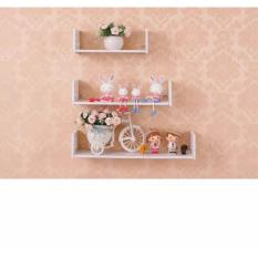 U Floating Shelves / Rak Dinding Gantung / Hiasan Dinding - Putih