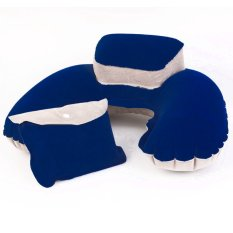 U-Shaped Inflatable Neck Pillow Pouch (Intl)