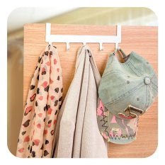 Ultimate Gantungan Barang Baju di Pintu Tanpa Paku Best Seller HS 70-01 - White