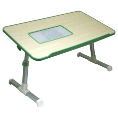 Unique Laptop Table - Meja Laptop Lipat Kayu - Portable Laptop Fan A8 V3 Hijau