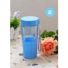 Universal Botol Minum Cartoon Plastic Cup Leakproof Bottle 410ML - Blue