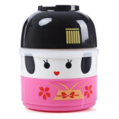 Vacuum Thermal Double Layer Lovely Doll Lunch Box For Girl(RED)