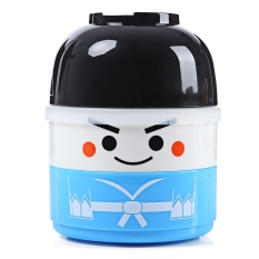 Vacuum Thermal Double Layer Lovely Doll Lunch Box Warm Food Container For Kids Boy (BOY) (Blue)