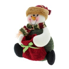 Vanker Christmas Cute Funny Reindeer Snowman Santa Claus Decorating Ornament Candy Bag Snowman