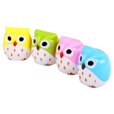 Velishy Pencil Sharpener Mini Cute Owl Pattern