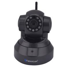"VSTARCAM C7837WIP 1/4"" CMOS 1.0MP 720P IP Camera W / 10-IR-LED / Wi-Fi / TF - Black (EU Plug)"