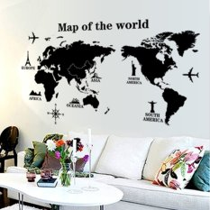 wall stiker map of the world