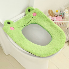 Washable Cloth Seat Warmer Pad Cartoon Plush Toilet Seat Cover Mat - Intl
