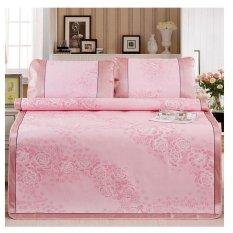 Wholesale Folding Summer Sleeping Mat Linen Mat Breathable Cool Mat Ice Silk Sleeping Mat Three-piece Suit