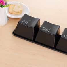 Whyus Novel Keyboard Button Ctrl ALT DEL Type Tea Coffee Mug Cup (Black)