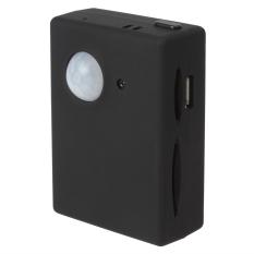 Wireless Mini 1.3 M Video Kamera Inframerah Keamanan Rumah GSM Autodial Kantor GPS PIR Km Sistem Alarm (Hitam)