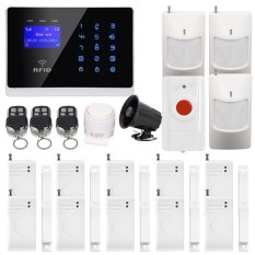 Wireless Security RF Receiver Home Alarm System With PIR Motion Detector And Wireless Outdoor Siren