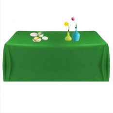 WiseBuy Satin Tablecloth Table Cover Wedding Party Restaurant Banquet Green 145x145cm (Intl)