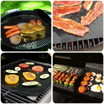 WithMe Grill Mat - Set of 1 Non Stick BBQ Grill Mats - Heavy Duty, Reusable, and Easy to Clean - intl