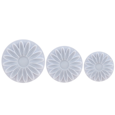 XMAS 3pcs Snowflake Fondant Cake Decorating Sugarcraft Cutter Plunger Mold Mould Sunflower (Intl)