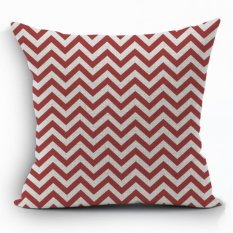Yazilind Red Wave Pattern Decorative Pillowcase Room Sofa Home 45*45CM / 17.55*17.55 Inch