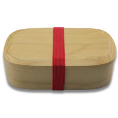 YFWOOD Hem-Fir Wooden Lunch-Box Japanese Bento Box Natural Oval Sushi Box Tableware Bowl With Inner Sparater - Intl