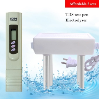 yieryi New Black TDS Quality Water Electrolyzer Electrolysis And TDS Meter Arrive - intl