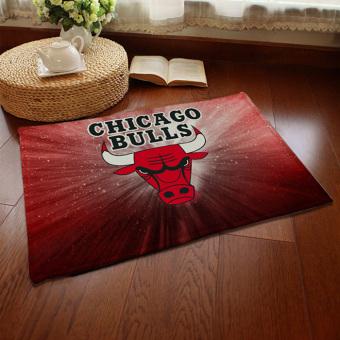 Yika Absorbent Soft Coral Velvet Non-slip Bathroom Floor Mat Rug NBA Chicago Bulls (Multicolor)