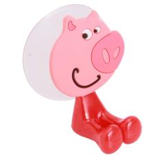 Yingwei Lovely Toothbrush Holder Cartoon Animal Shape Pink
