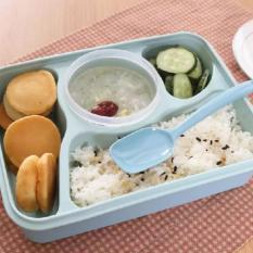 Yooyee Lunch Box 4 Sekat Bento #392 Kotak Bekal Makan + Tempat Sup - BIRU
