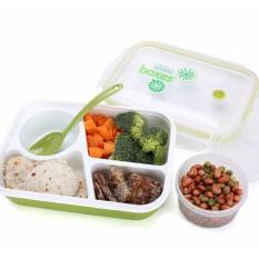 Yooyee Lunch Box 4 Sekat Bento #415 Kotak Bekal Makan + Tempat Sup - HIJAU