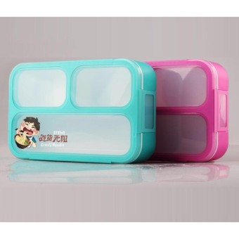 YOOYEE MINI LEAK PROOF GRID LUNCH BOX SEKAT 3 / KOTAK MAKAN ANTI TUMPAH 606