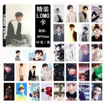 Youpop KPOP EXO For Life CHANYEOL Album LOMO Cards K-POP NewFashion Self Made Paper