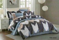Yume Bedcover Set Import-Cendira [Extra King Size / 200 X 200 X 40 Cm] YM001010