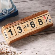 Zakka Wood Calendar, Manual Calendar, Creative Small Gifts Home Decorations