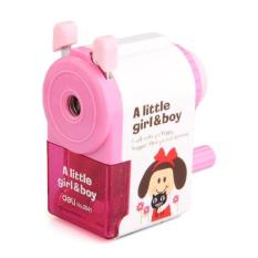 Zhouda Kids Manual Hand Crank Pencil Sharpener Pink - Intl