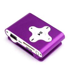 32GB Mini Clip Metal USB MP3 Player (Purple) (Intl)