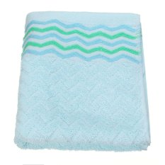 32x71cm Cotton Towel Face Cloth Hand Bath Towel Blue - Intl