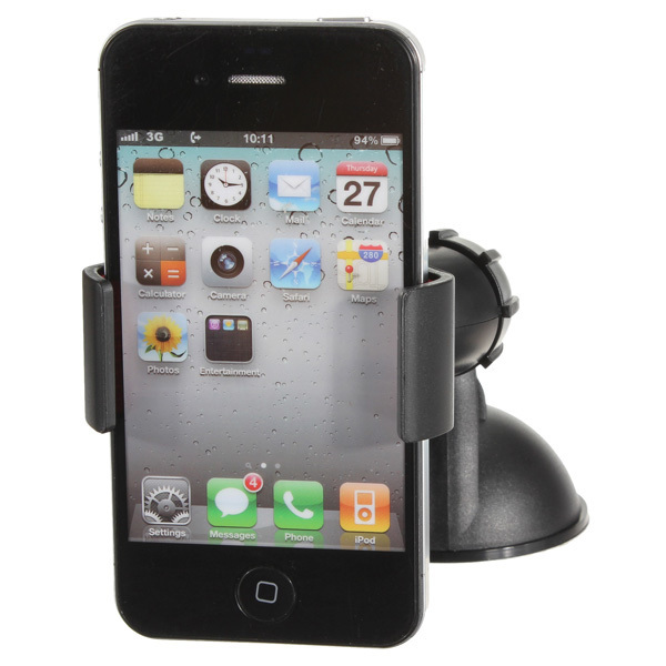 360 Car Windshield Suction Mount Clip Holder Stand For iPhone 6 Galaxy S5 LG GPS (Intl)