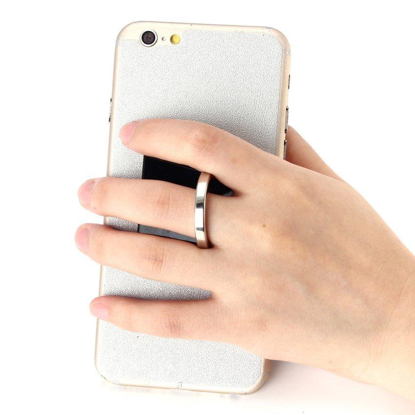 360 Degree Finger Grip Rotation 3D Ring Stand Mount Holder for Mobile Phone PDA Black (Intl)