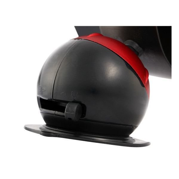 360 Degree Rotatable Globe Shaped Car Stand with Non Planar Suction Cup for Cell Phones (Red)