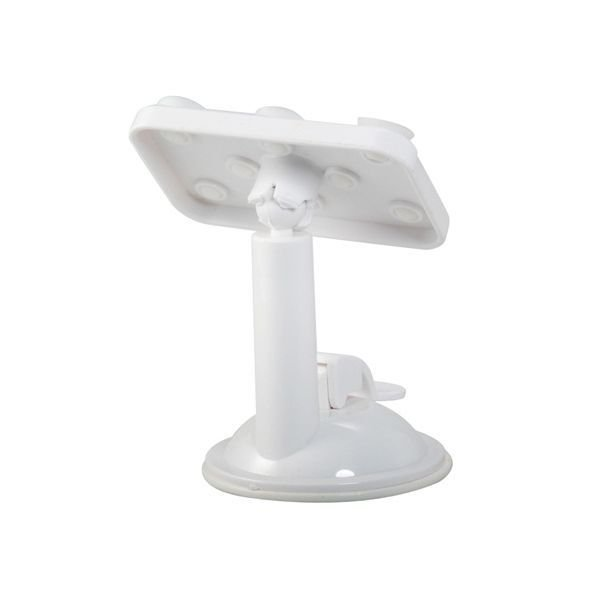 360 Degree Rotating Multifunction Placing Plate Car Mount Holder for Mobile Phone GPS Navigation Tablet PC White