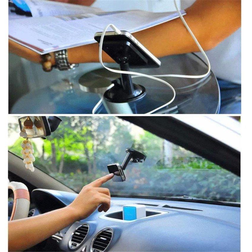 360 Degree Rotating Windshield / Dashboard suction cups Car Mount Phone Holder for Smartphones Mobile Phones -Orange (Intl)