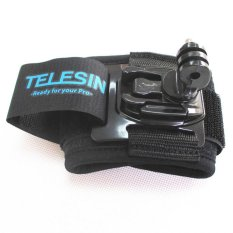 360 Degree Rotation Wrist Hand Strap Band Mount For Gopro Hero 2 3 3 + Black (Intl)