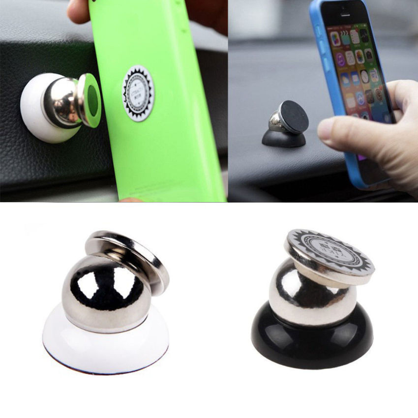 360 Degrees Magnetic Car Dash Mount Ball Dock Holder for iPhone PDA Tablet GPS (Black) (Intl)