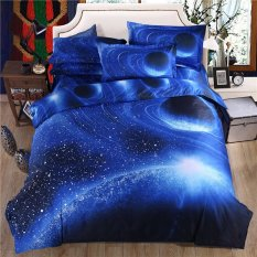 3d Galaxy Bedding Sets Twin / Queen Size Universe Outer Space Themed Bedspread 3pcs / 4pcs Bed Linen Bed Sheets Duvet Cover Set