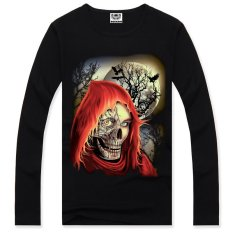 3D Men's Long-sleeved T-shirt Printing Cotton Long-sleeved T-shirt Campaign (Intl)