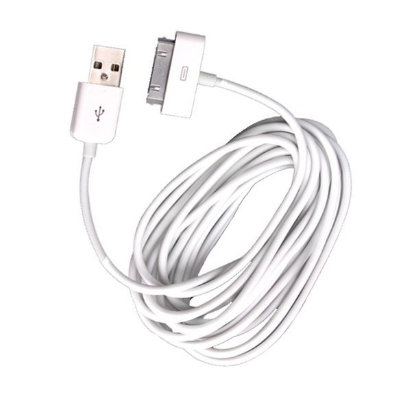 3M 10Ft USB Sync Charging Charger Cable for iPhone 4 4S iPad White
