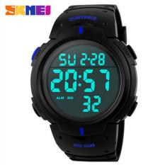 3Pcs SKMEI Waterproof LED Light Digital Date Alarm LCD Wrist Watch Men Women Sports