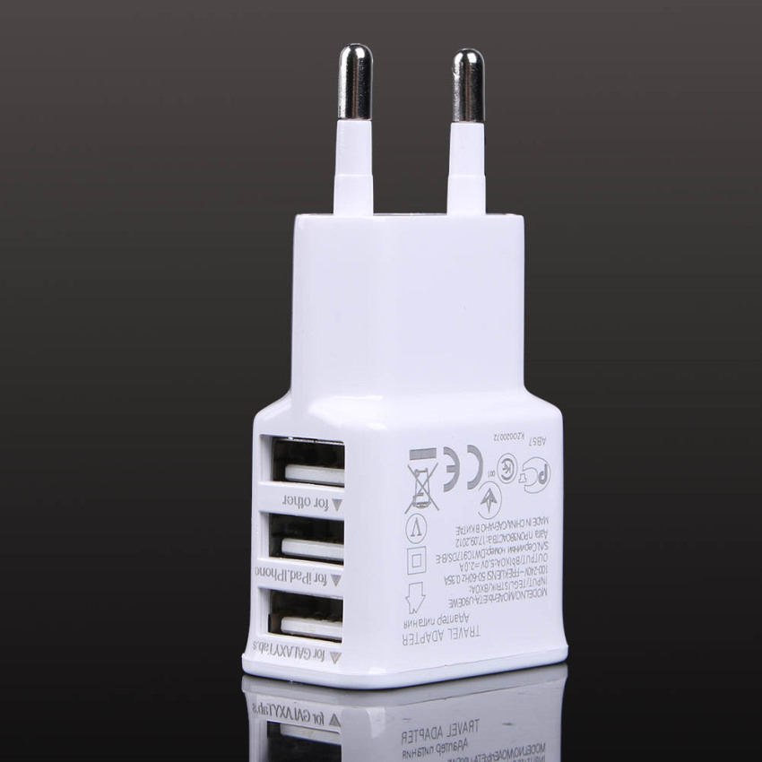 3USB European regulatory charger with data cable (Intl)